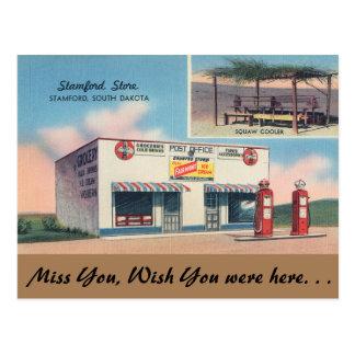South Dakota, Stamford Store, Stamford Postcard