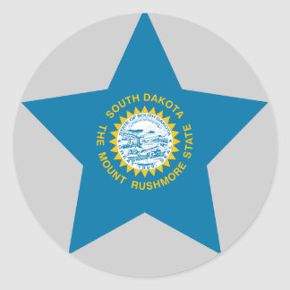 South+Dakota Star Round Sticker