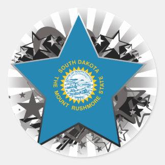 South Dakota Star Round Sticker