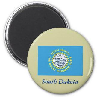 South Dakota State Flag 6 Cm Round Magnet