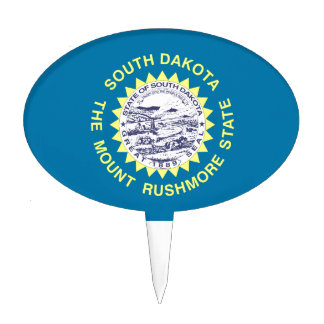 South Dakota State Flag Cake Topper