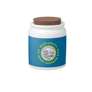 South Dakota State Flag Candy Jar