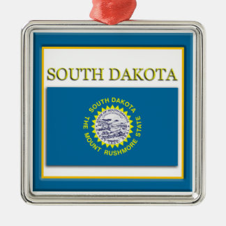 South Dakota State Flag Christmas Ornament