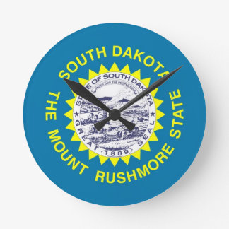 South Dakota State Flag Wallclock