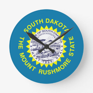 South Dakota State Flag Wall Clocks
