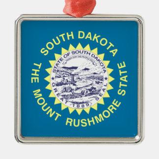 South Dakota State Flag Christmas Tree Ornament