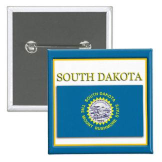 South Dakota State Flag Design Button