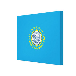 South Dakota State Flag Design Decor Stretched Canvas Prints