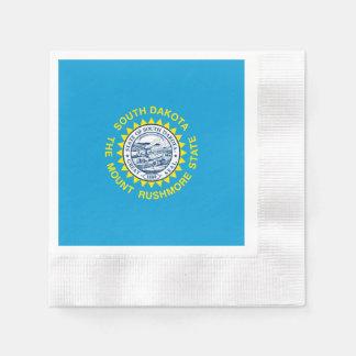 South Dakota State Flag Design Disposable Serviette