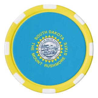 South Dakota State Flag Design Poker Chips Set