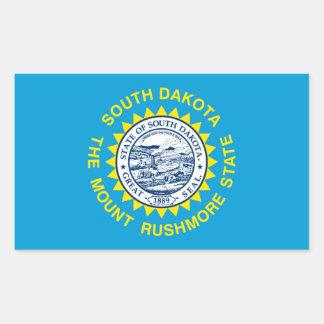 South Dakota State Flag Design Rectangular Sticker