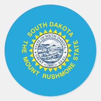South Dakota State Flag Design Round Sticker