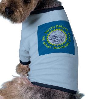 South Dakota State Flag Dog Tee Shirt