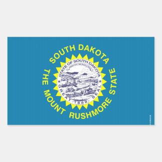 South Dakota State Flag Rectangular Sticker