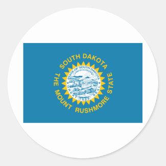 South Dakota State Flag Round Sticker