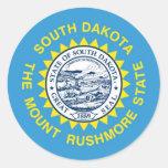 South Dakota State Flag Round Stickers