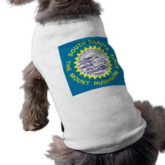 South Dakota State Flag Sleeveless Dog Shirt