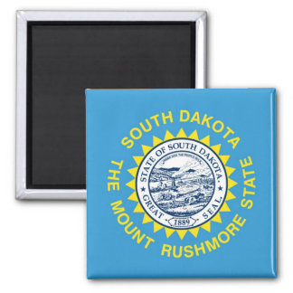 South Dakota State Flag Square Magnet