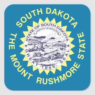 South Dakota State Flag Square Sticker
