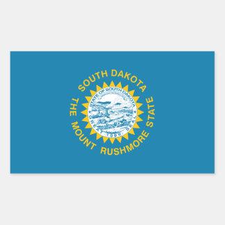 South Dakota State Flag Rectangular Stickers