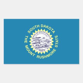 South Dakota State Flag Rectangle Stickers