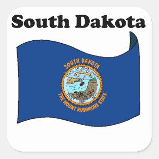 South Dakota State Flag Square Stickers
