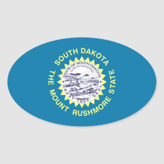 South Dakota State Flag Oval Sticker