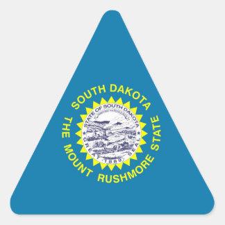 South Dakota State Flag Triangle Sticker