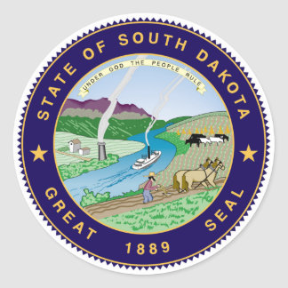 south dakota state flag united america republic sy classic round sticker