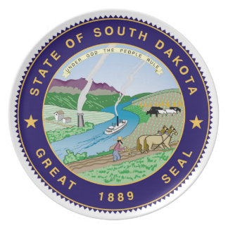 south dakota state flag united america republic sy dinner plate