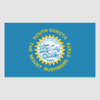 south dakota state flag united america republic sy rectangular sticker