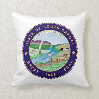 south dakota state flag united america republic sy throw cushions