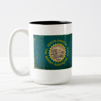 South Dakota State Flag VINTAGE Two-Tone Mug