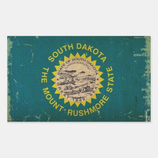 South Dakota State Flag VINTAGE Rectangular Sticker