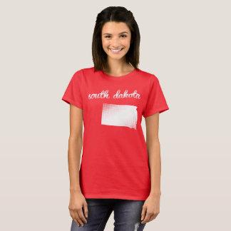 South Dakota state in white T-Shirt
