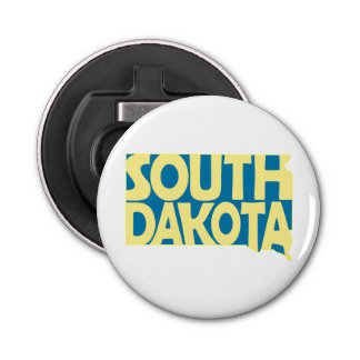 South Dakota State Name Word Art Yellow