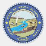 South Dakota State Seal Round Sticker