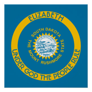 South Dakota The Mount Rushmore State Flag Poster