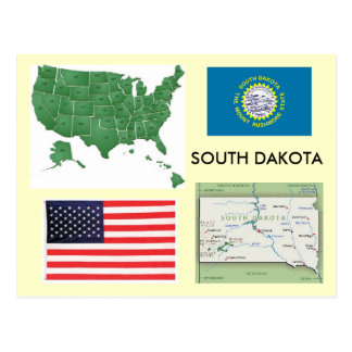 South Dakota, USA Postcard