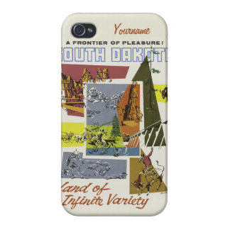 South Dakota USA Vintage Travel cases iPhone 4/4S Case
