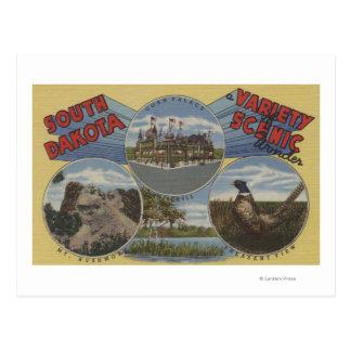 South Dakota - Variety of Scenic Wonder Postcard
