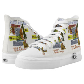 South Dakota Vintage Travel novelty shoes