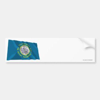 South Dakota Waving Flag Bumper Sticker