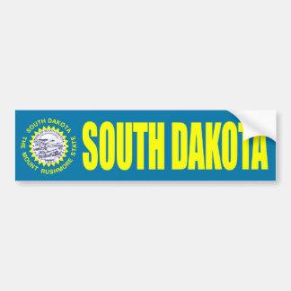 South Dakota with State Flag Bumper Sticker