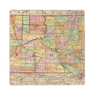 South Dakota Wood Coaster