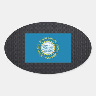 South Dakotan flag Oval Sticker