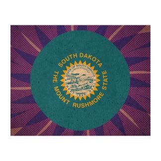 South+Dakotan Flag Souvenir Cork Paper Print