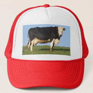 South Devo Cow On Hill Top Looking Trucker Hat