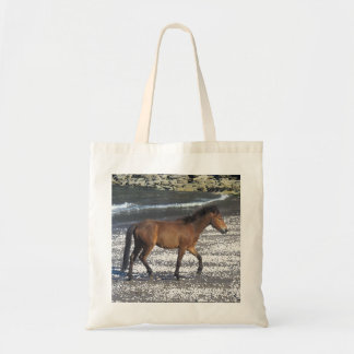 South Devon Beach Dartmoor Pony Trotting Tote Bag
