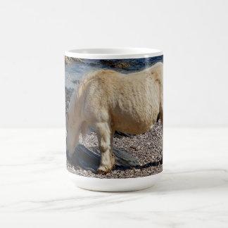 South Devon Beach Shetland Pony Eating Seaweed Coffee Mug